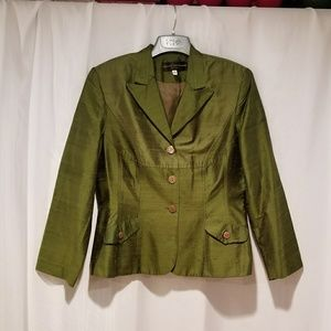 Gorgeous green silk suit jacket
